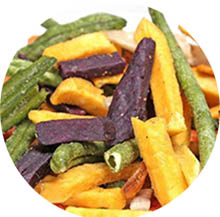 Low fat vacuum fried vegetable and fruit chips.jpg