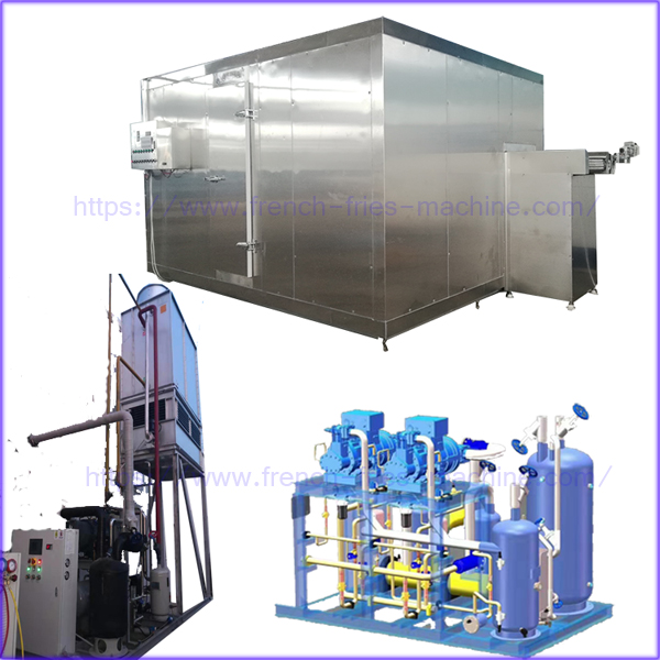 air blast fluidized mesh freezer