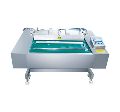 Continuous  vacuum packing machine