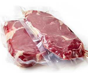 continuous vacuum bulk size meat packs