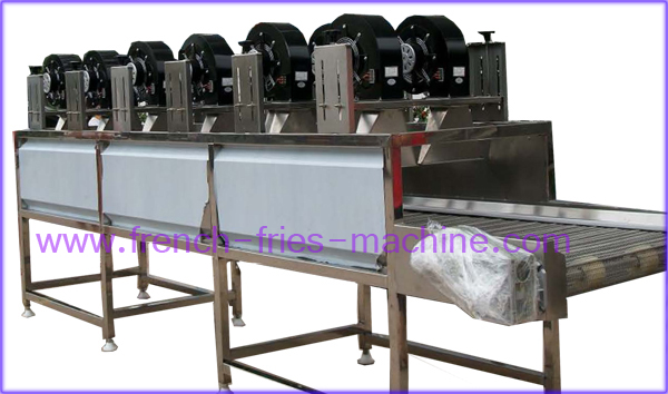 potato fries cooling machine