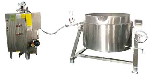 steam ajcketed cooker and steam generator