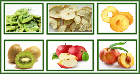 low temperature dehydrated fruits and vegetable chips